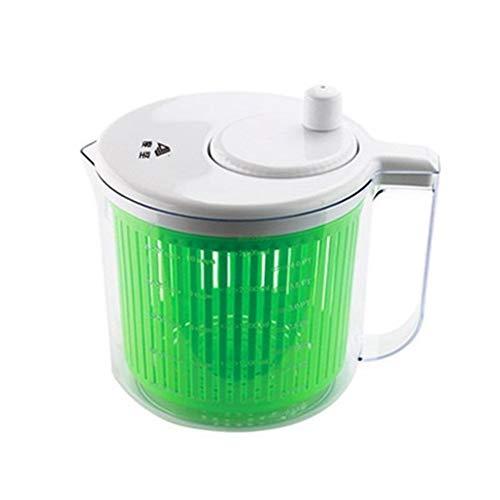 BCGT Große Salatschleuder und Torwart - 2L Salat Spinner Gemüse Waschmaschinen-Trockner mit großer Salatschüssel und Kunststoff Seiher, Obst Veggie Wash & Salatherstellung, BPA frei