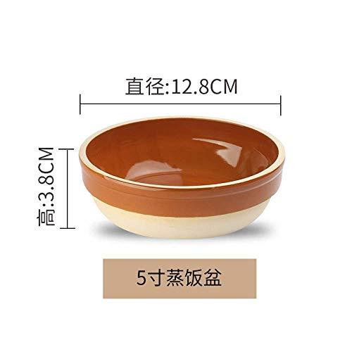 Gestoomde Rijst gestoomde rijst Gestoomde Egg Bowl Purple Sand Taro Instant Noodles aardewerk schaal wit porselein Kleine Kom 5 Inch tafelgerei Servies 8bayfa