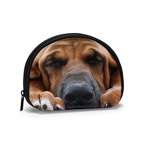 Bolsas de almacenamiento portátiles para perros durmientes de viaje con concha de cosméticos para mujeres y niñas, monedero pequeño, monedero, monedero