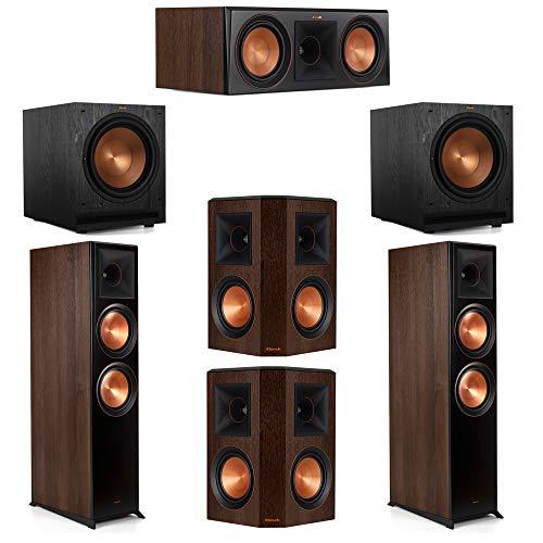 Lowest Prices! Klipsch 5.2 Walnut System 2 RP-8000F Floorstanding Speakers, 1 Klipsch RP-600C Center...