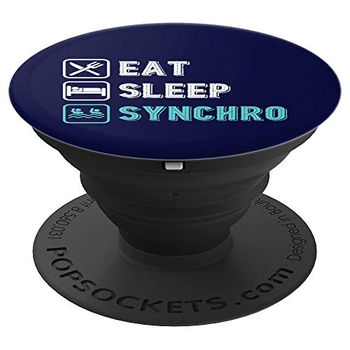 Eat Sleep Synchronized Swimming Gymnastics Gift PopSockets Grip and Stand for Phones and Tablets