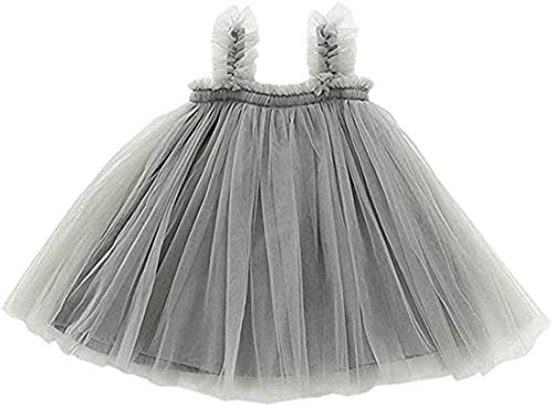 Vestido de tutú para niña Vestido de Princesa de Tul sin Mangas...