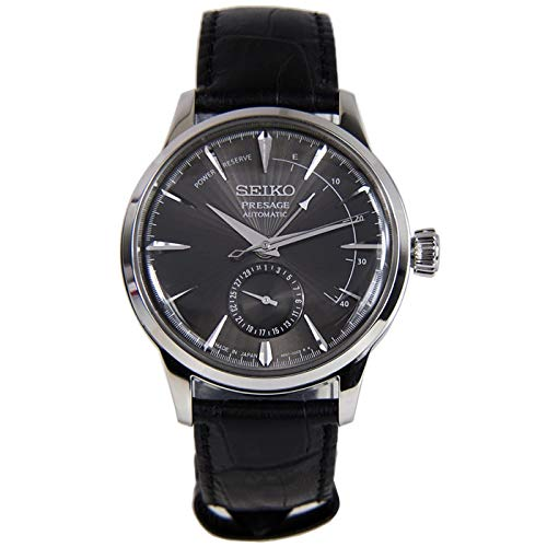 Seiko Mens Analogue Automatic Watch with Leather...