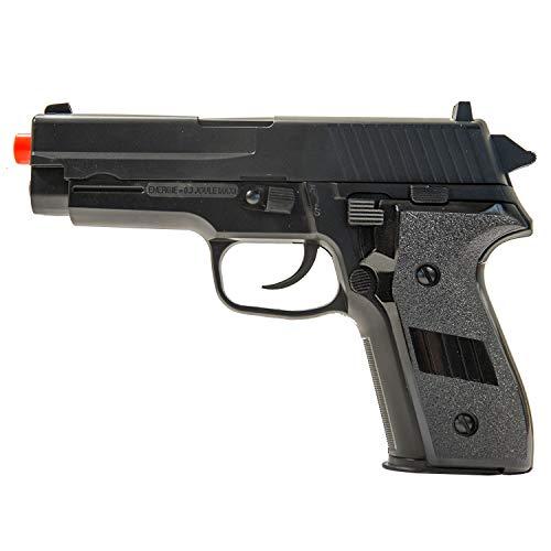 Firepower Interrogator Spring Powered Airsoft Pistol, 260 FPS, Black
