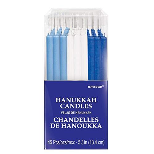 Hanukkah Candles Multi-Pack, 5.3', 45 Ct.