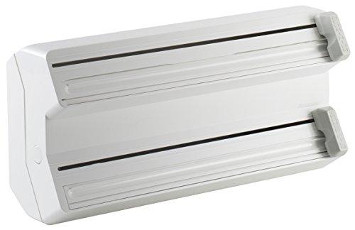 MAR PLAST Dispenser porta rotolo pellicola e alluminio n. 548 Cutterbox | Professionale da cucina |Doppio rotolo | Colore bianco | 380 x 185 x 110 cm