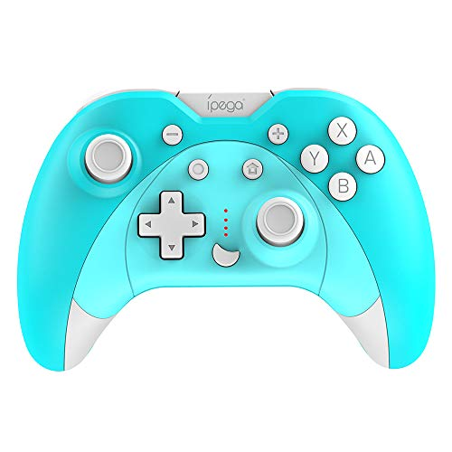 KKmoon IPEGA PG-SW023 Controle de jogo Bluetooth sem fio vibratório de seis eixos Gamepad substituição para console NS / P3 / Android/PC (Win7 / 8/10) azul