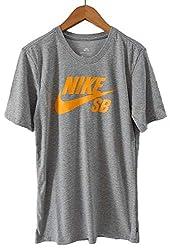 NIKE SB ナイキSB DRI-FIT ロゴ Tシャツ (S, GREY) [並行輸入品]