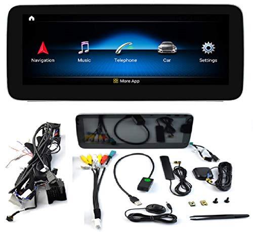 KasAndroid AUTORADIO Android 10.0 valido Mercedes-Benz A Class CLA GLA W176 A160 A180 A200 A200 A250 (NTG5.0) Octa Core, 4GB + 64GB Carplay/Android Auto GPS WiFi 4G navi navegador Pantalla 10.25'