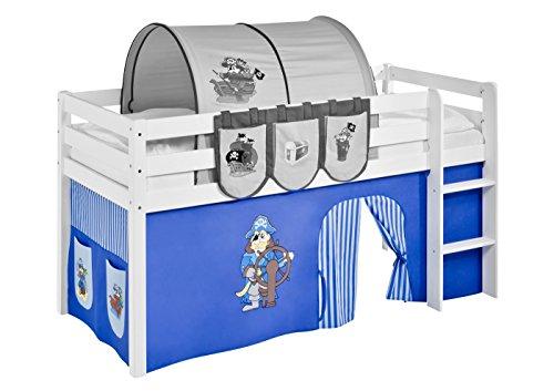 Lilokids Vorhang Pirat Blau - für Hochbett, Spielbett und Etagenbett
