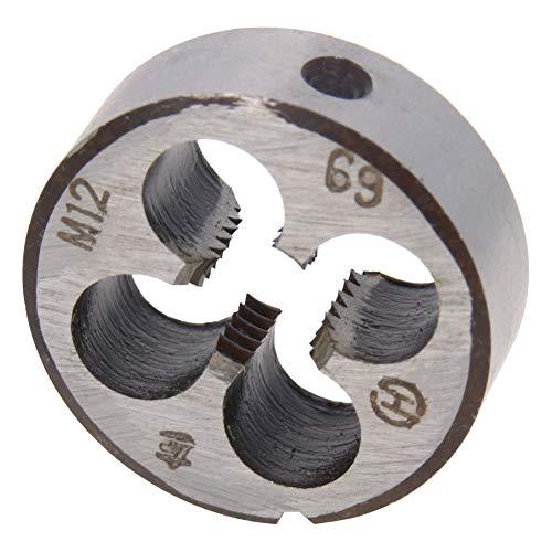 Utoolmart M12 X 1.75 Metric Round Die, Machine Thread Left Hand Threading Die, Alloy Steel