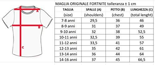 Epic Games T-Shirt Originale Fortnite Bambino Ragazzo Posizioni movimenti Maglia Nera Maglietta (11-12 Anni)