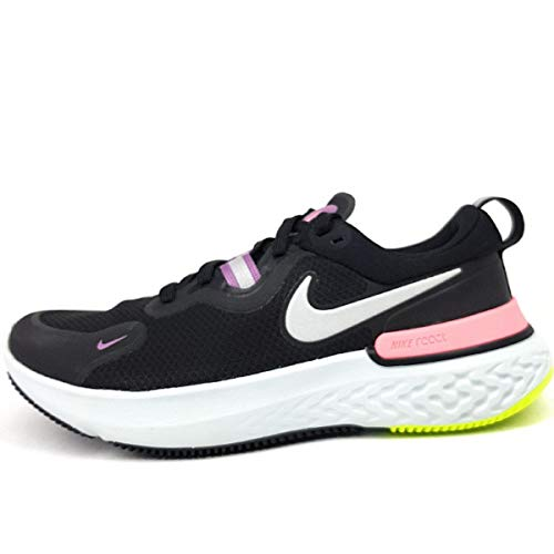 Nike Wmns React Miler, Zapatillas para Correr Mujer, Black Mtlc Silver Violet Dust Sunset Pulse Cyber Photon Dust, 38.5 EU