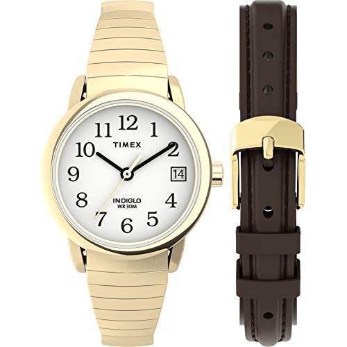Timex Women's Easy Reader 25mm Quartz Stainless Steel Strap, Gold, 12 Casual Watch (Model: TWG025300JT)