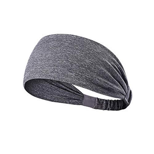Xmiral Damen Stirnband Baumwolle geknotete Turban Kopf Warp Plain Haarband Breite elastische Sport Yoga Haarband