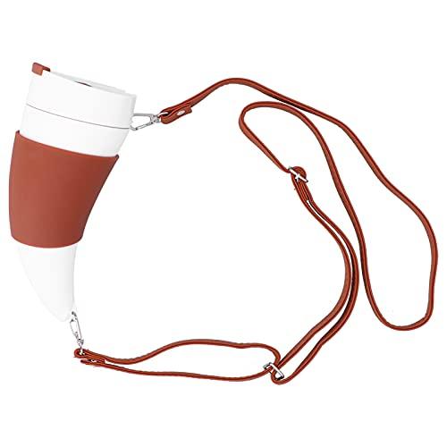 Taza térmica, forma de cuerno de cabra Taza térmica aislada multifuncional fácil de usar para la familia para café para bebidas(white)