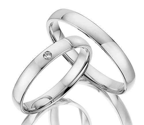 ***AKTIONSPREIS*** 123traumringe 2x Trauringe/Eheringe Weißgold 333 in Juwelier-Qualität (Gravur/Ringmaßband/Etui/ohne Stein)