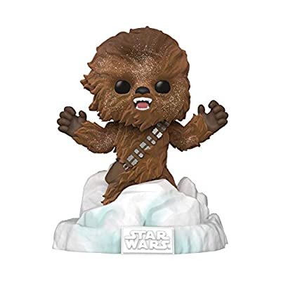 Funko Pop! Deluxe Star Wars: Battle at Echo Base Series - Flocked Chewbacca Vinyl Figure, Amazon Exclusive, Figure 3 of 6 from Funko