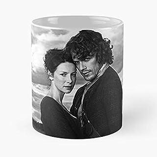92Wear Outlander Jamie Claire Scotland Highlanders Love Romanticism Telefilm Series TV Sam Heughan - Best 11 oz Taza De Café - Taza De Motivos De Café