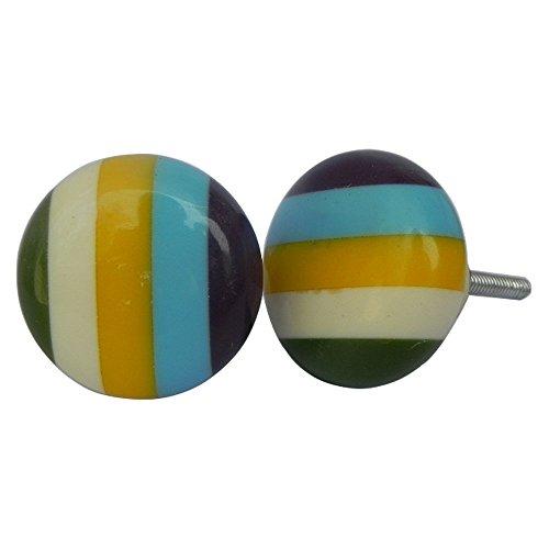 IndianShelf Boutons artistiques antirouille pour tiroir de commode vintage bouton 16 Knobs multicolore