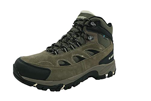 HI-TEC Men's Ramsey Waterproof Smokey/Brown/Olive/Snow Mid-Top Leather Hiking Boot - 11W