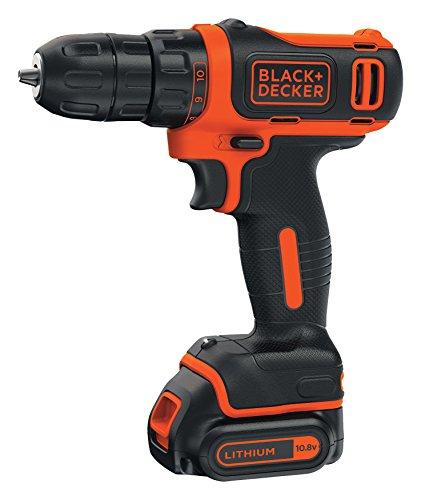 BLACK+DECKER BDCD12K-QW - Taladro atornillador 10.8V, 26 Nm, con batería litio 1.5Ah y maletín