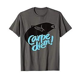 Homme Carpe Diem Pêche Poisson Passion Brochet Pêcheur Sportif T-Shirt