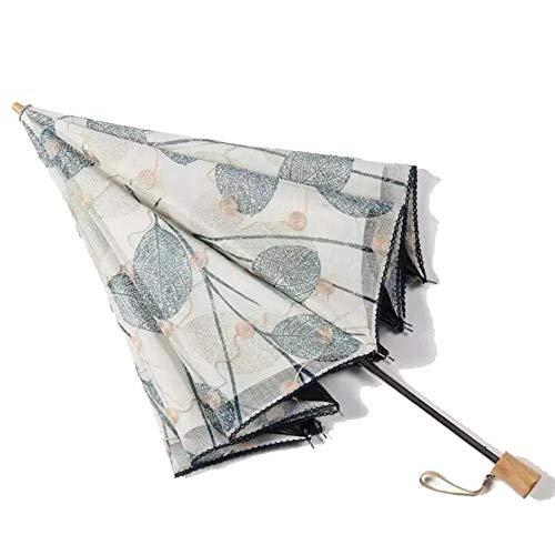 Yi-xir Experiencia Confortable Bordado de Encaje Protección UV Protector Solar Paraguas moldeable Negro Paraguas de Viaje Compacto (Color : Blue)