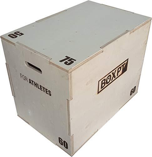 BOXPT Cajón Pliométrico en Madera 50/60/75 cm