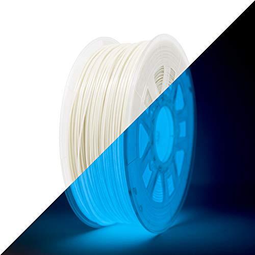 Gizmo Dorks Low Odor ABS 3D Printer Filament 1.75mm 1kg, Glow in The Dark Blue