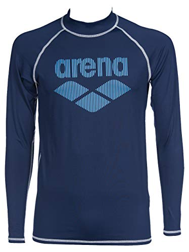 ARENA Rash UV - Camiseta de Manga Larga para Hombre, Hombre, Camiseta UV, 003136, Azul Marino, Large