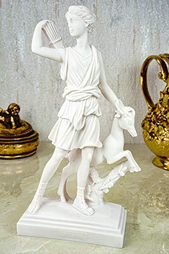Alabaster Deko Figur Artemis Göttin der Jagd 22 cm Skulptur weiß Apollon