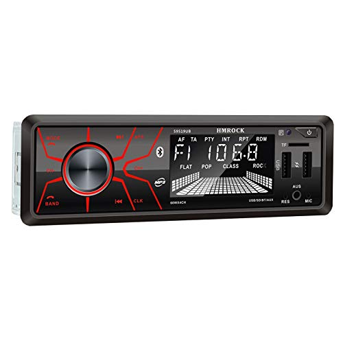 Bluetooth Car Radio Stereo Built-in Microphone USB Port MP3 Multimedia Player with 7 Color Backlight