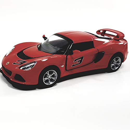 Kinsmart Lotus Exige S 2012 Fire Engine Red 1/32 Scale Hard Top Diecast Car