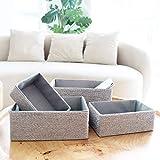 Aufbewahrungsboxen Biologisch Handarbeit aus Papier Pappe Körbe Umweltfreundlich für Accessoires Schminke 4er Set - 2