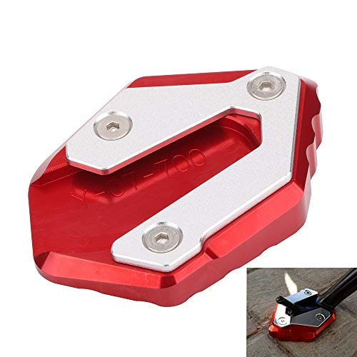 Motorcycle Side Stand Plate Kickstand Extension Pad Enlarger For YAMAHA MT-07 Moto Cage Tracer 700 XSR700 FZ-07 2014-2018 2015 2016 2017 - Red