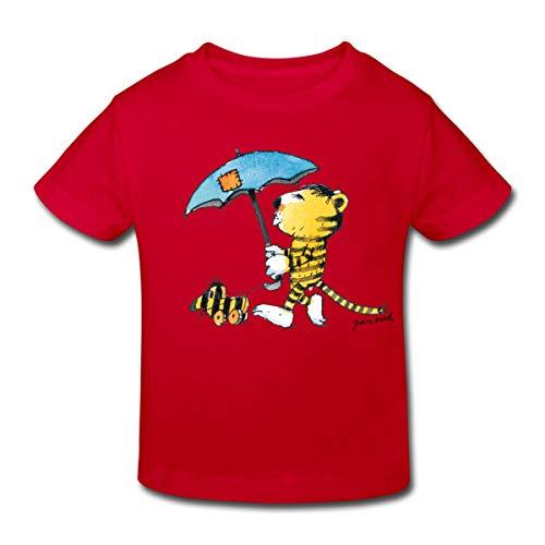 Janosch Kleiner Tiger Tigerente Mit Schirm Kinder Bio-T-Shirt, 134-140, Rot