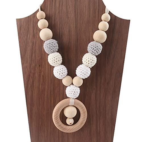 Mamimami Home Bébé Dents en bois Fil Crochet Perles Chewable Accessoires pour bébés Jouets de dentition
