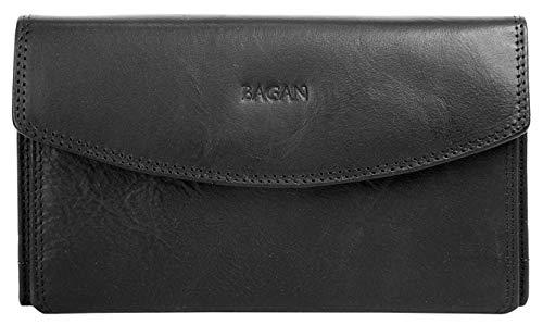 Bagan Geldbörse Echt Leder schwarz Damen - 019250
