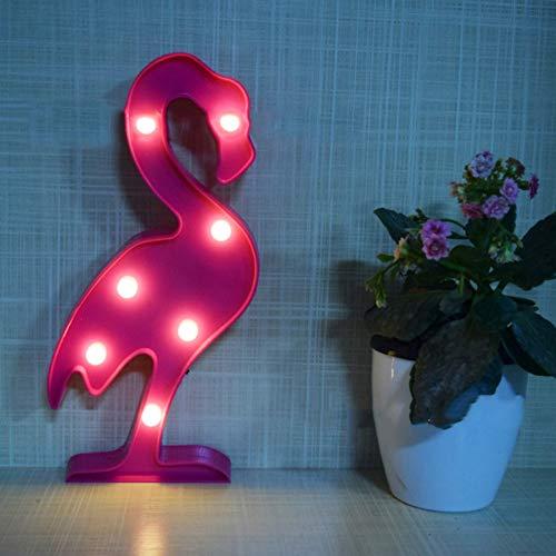 XHSHLID 3D-LED-lamp flamingo lamp ananas cactus wolken romantisch nachtlicht tafellamp voor kerstdecoratie thuis