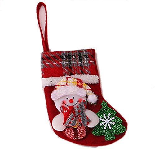 Triamisu Decoraciones navideñas Medias navideñas Muñeca de Lino a Cuadros navideños Bolsa de Regalo Árbol de...