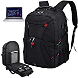 Laptop Backpack Large 17 Inch Anti Theft TSA Friendly Travel Backpack with USB Charging Port Waterproof College 17in Gaming Backpack for Men & Women School Computer Bag For 17.3 Inch Laptop, Black