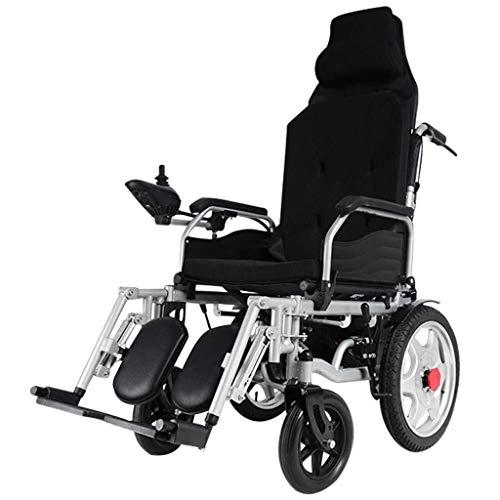 LFLLFLLFL Silla de Ruedas eléctrica, Totalmente automático de Potencia Ligero Plegable Silla de Ruedas Ancianos discapacitados Vespa, Duradero Seguro y fácil de Conducir, Aprobado por la FDA