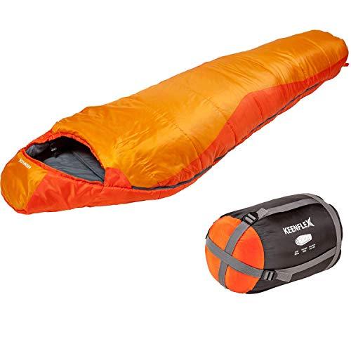 Saco de dormir KeenFlex tipo momia para 3-4 estaciones extra cálido y ligero,...