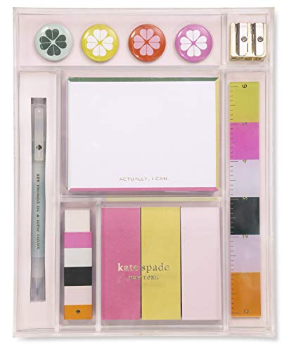 Kate Spade New York Women's Office Supplies Tackle Box Desk Organizer, Actually I Can