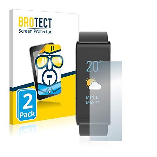 BROTECT Schutzfolie kompatibel mit MyKronoz ZeFit 4 HR (2 Stück) klare Bildschirmschutz-Folie