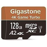 Gigastone Carte mémoire Micro SD XC 128 Go, 4 K UHD Game Turbo, UHS-I U3 C10 Classe 10 Nintendo Switch, Lecture/écriture 100/50 Mo/s, Garantie 10 Ans + 5 Ans de récupération de données