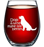 Dogs & Wine Make Life Better | Perfect Birthday Gift For Veterinarian,...