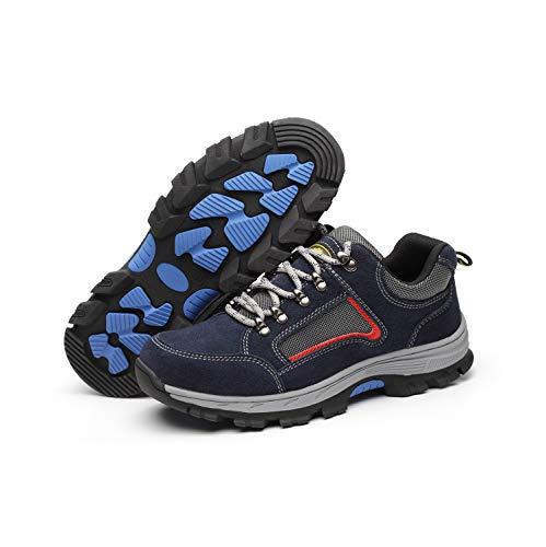 Zapatos Seguridad Hombres con Puntera de Acero Invierno Calzado de Seguridas Trabajo Industrial Zapatillas Deportivos