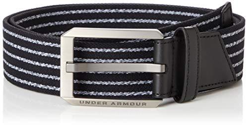 Under Armour UA Men's Stretch Belt Cómodo Cinturón De Hombre, Accesorio Para Hombre Hombre Negro (Black) 32